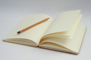 blank book & pencil